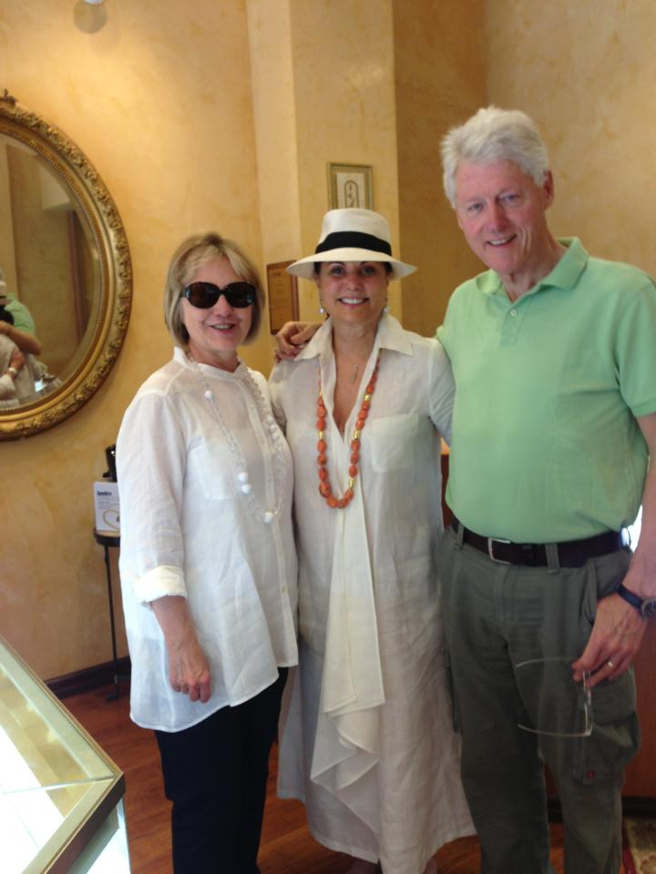 Varda with the Clinton's Visiting for the Sidewalk Sale