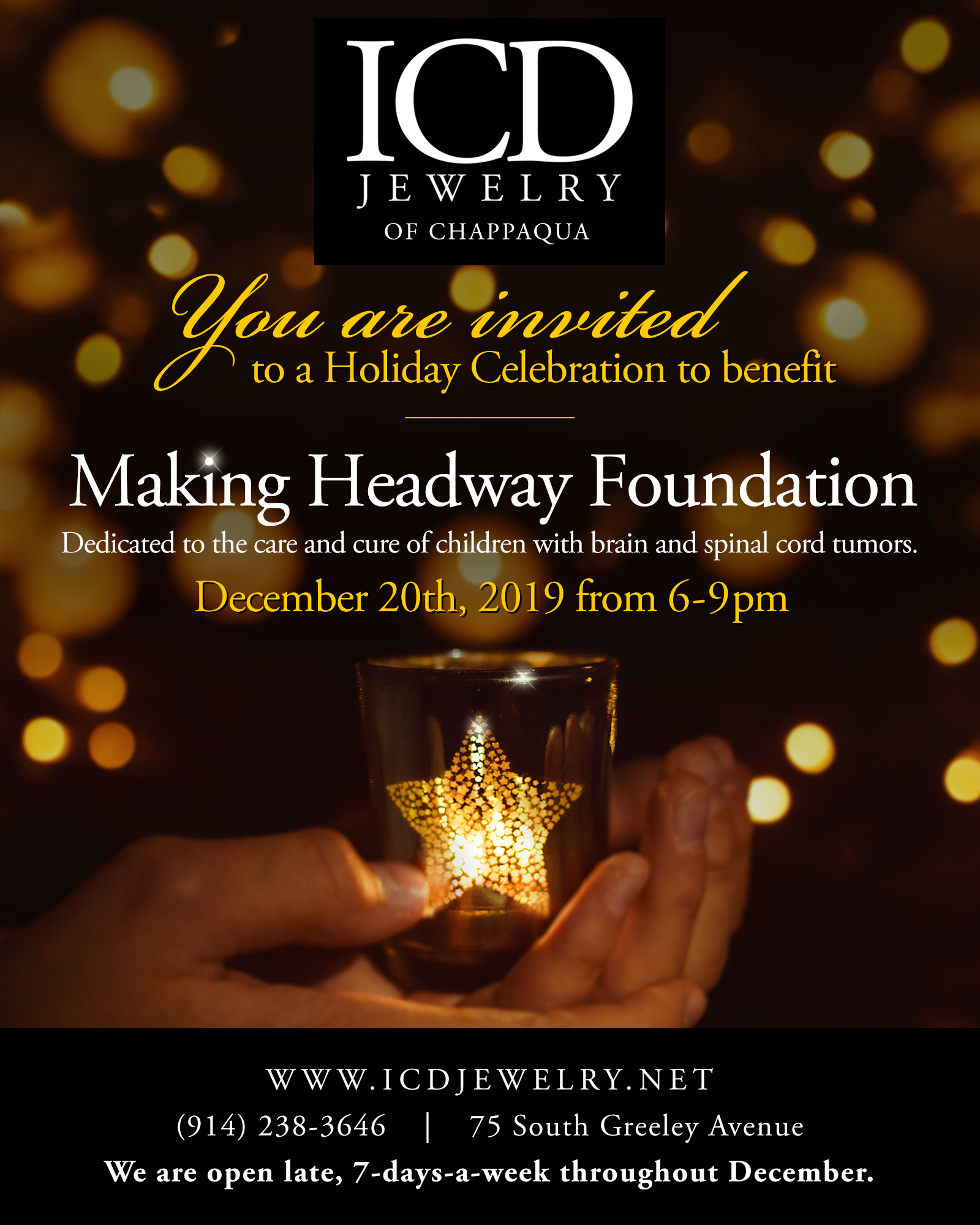 Making Headway Foundation Benefit, December 20th