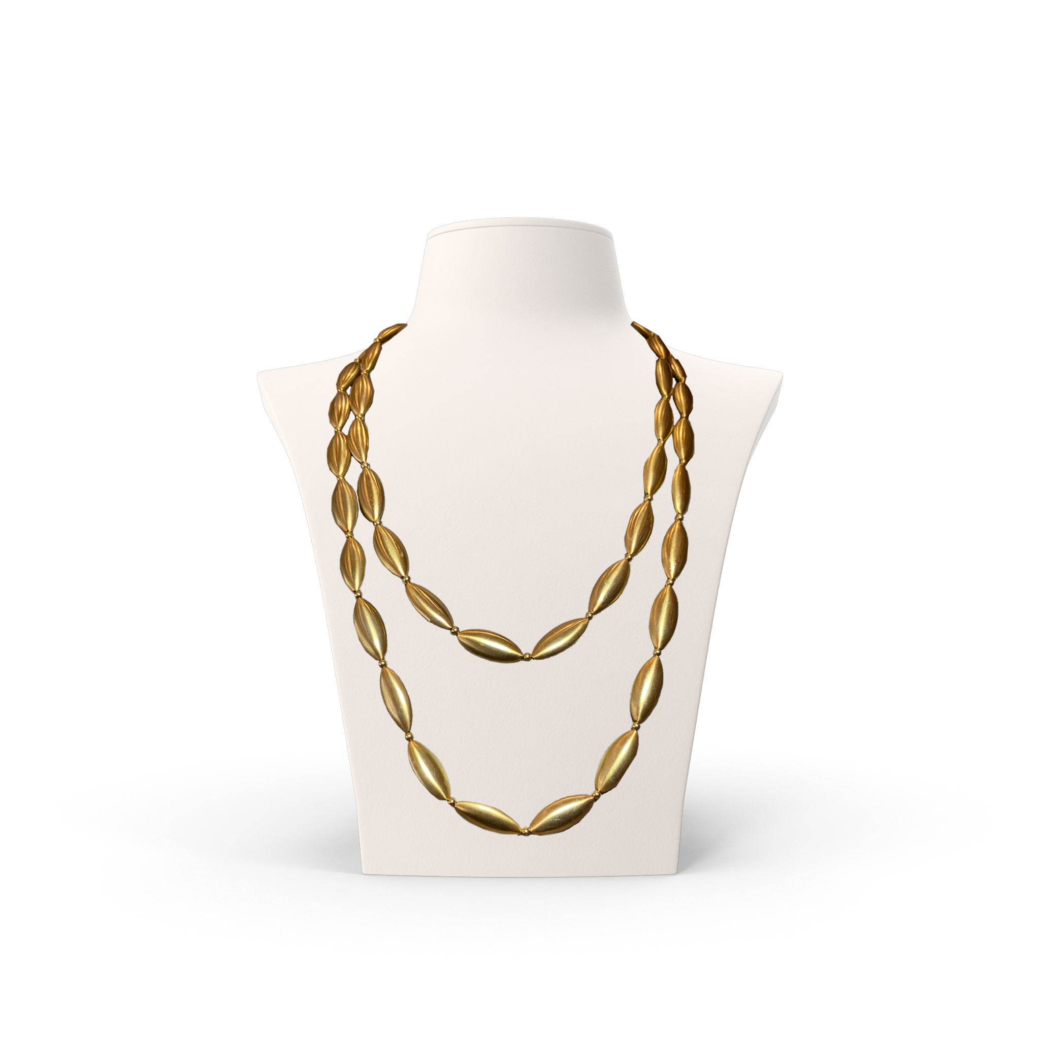 Anticoa Long Beaded Gold Plated Necklace