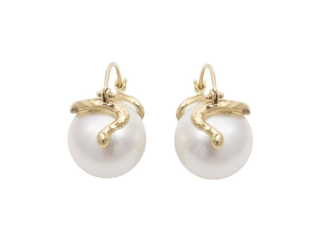 Snake Pearl Earrings